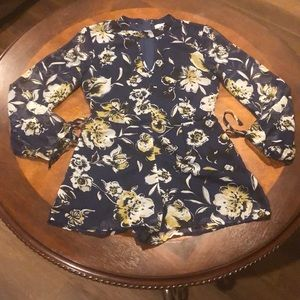 Band of Gypsies Floral Tiger Lily Romper Small